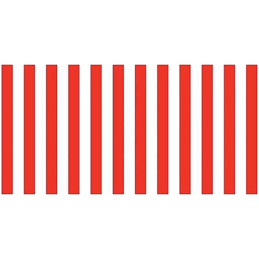 """Pacon Fadeless® Design Roll, 48"""" x 50', Red & White Classic Stripes (PAC57615)"""