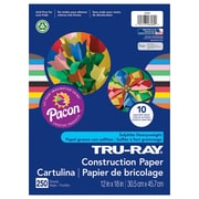 "Tru Ray Construction Paper 12"" x 18"", Bulk Assortment (PAC6589)"