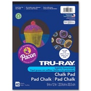 "Tru Ray Chalk Paper Pad, 9"" x 12"", Black (PAC6591). Sold as a set of 6, each pack has 40 sheets, for a total of 240."