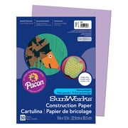 "Pacon® SunWorks® Groundwood Construction Paper, Lilac, 9""(W) x 12""(L), 50 Sheets"