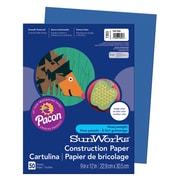 "Pacon SunWorks Construction Paper 12"" x 9"", Dark Blue (PAC7303)"