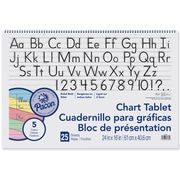 """Colored Chart Tablets, Ruled, Spiralbound, 24""""x16"""", Assorted Colors, 2 EA/BD"""