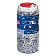 Pacon Corporation PAC91710 Silver Spectra Glitter, 16 oz.
