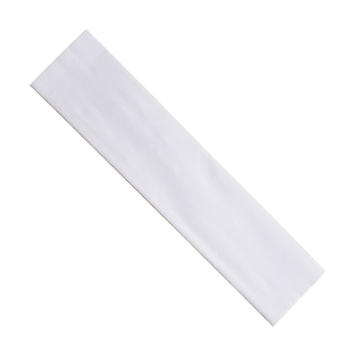 "Creativity Street® Crepe Paper, 20"" x 7.5', White, 12 Sheets (PACAC10110)"
