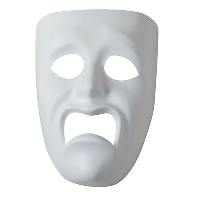 Pacon Plastic Mask Sad Face Ages 5+, 3 Count Per Order (PACAC4210)