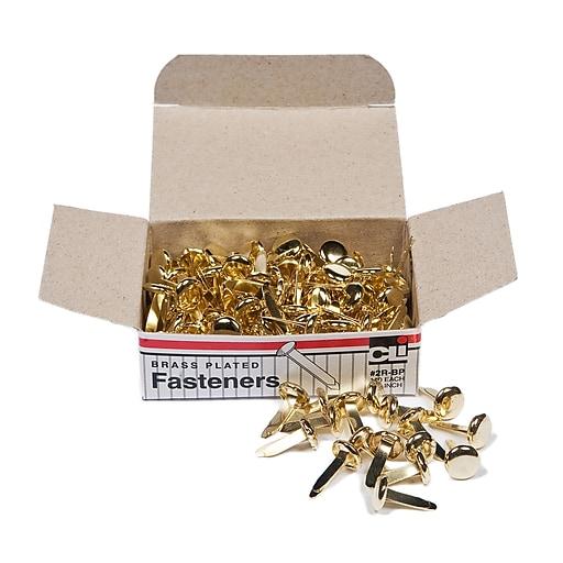 "Paper Fasteners 1/2"" Brass, Box of 100 (CHL2RBP)"