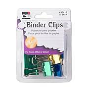 Charles Leonard, Binder Clips Asst Size & Color, bundle of 12, 120 total (CHL30410)