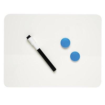 Charles Leonard™ Plain/Plain Magnetic Dual Sided Dry Erase Lapboard, White