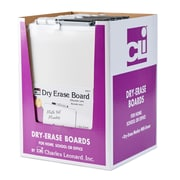 Charles Leonard Dry Erase Board with Frame, includes Marker with Eraser, White (CHL35210ST)