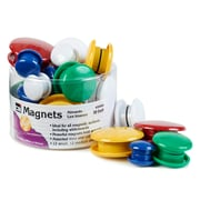 Charles Leonard Round Magnets, Assorted Sizes & Colors, 6 Tubs of 30 (CHL35930)