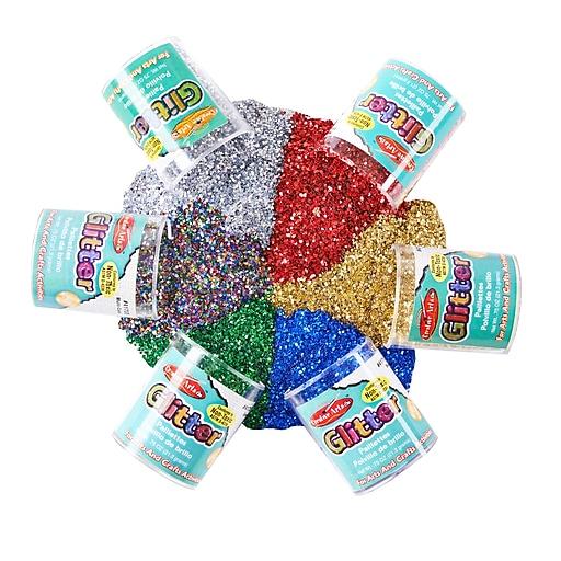 CHL41006 Glitter Set Multicolor, 3?4 oz. 6/pkg