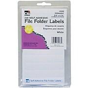 Charles Leonard File Folder Labels, White, 6 packs of 248 (CHL45235)