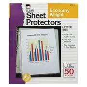 Charles Leonard Clear Sheet Protector, 50/Box