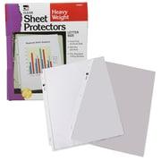 """Charles Leonard Sheet Protectors Plastic, Clear, 11.5 x 9.5"""", 1 Pocket, 100 Protectors Per Box (CHL48341)"""