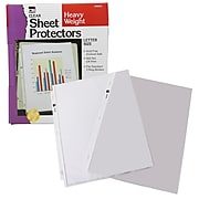 "Charles Leonard Sheet Protectors, 11.5 x 9.5"", Clear, 100/Pack (CHL48341)"