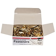 "Charles Leonard Brass-Plated Paper Fasteners 1"", Brass 100/box (CHL4RBP)"