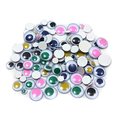 Charles Leonard Creative Arts™ Painted Peel n Stick Wiggle Eyes, Assorted Colors/Sizes, 100/Pack