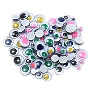 Charles Leonard Creative Arts™ Round Wiggle Eyes, Assorted Colors/Sizes, 100/Pack