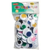 Charles Leonard® Jumbo Wiggle Eyes, Assorted, 100/Pack