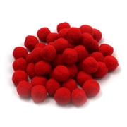 "Charles Leonard Creative Arts™ Pom-Poms Furry Balls, Red, 1"", 12/Pack"