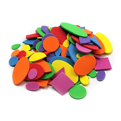 Charles Leonard Creative Arts™ Foam Shapes, Assorted Colors/Sizes, 264/Pack