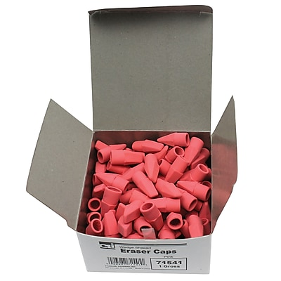 Charles Leonard Economy Cap Eraser, Pink, 144/Box