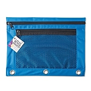 Charles Leonard 2-Pocket Pencil Pouch, Assorted Colors (CHL76350ST)