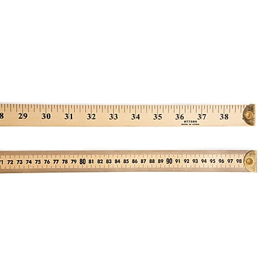 Charles Leonard Ruler Meter Stick w/ Metal End, 6 Count, 39 Inches Wood (CHL77595)