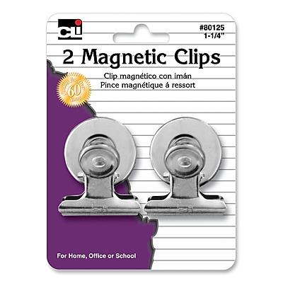 Charles Leonard Magnetic Spring Clips, 1-1/4