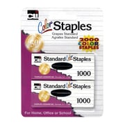 Charles Leonard Standard Staples Assorted Colors, 6 Count of 2000 Colored Staples (CHL80262)