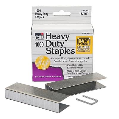 "Charles Leonard Extra Heavy Duty Staples, 15/16"", 1000 per box, bundle of 6 boxes (CHL84094)"