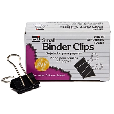 Binder Clips, Small, 3/8