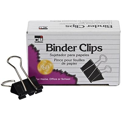 Charles Leonard Binder Clip, Medium, 12/Box