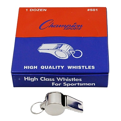 Champion Sports Metal Whistle, 12/PK, 3 PK/BD