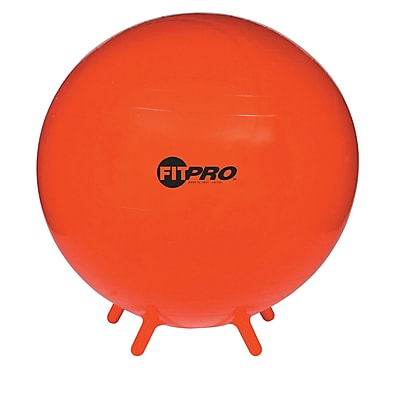 Champion Sports® 75 cm Fitpro Ball With Stability Legs, Red
