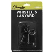 Champion Sports Plastic Whistle And Lanyard Set, 12 EA/BD