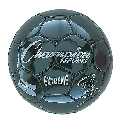 Champion Sports Extreme Size 5 Black Soccer Ball (CHSEX5Bk)
