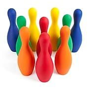 Champion Sports Foam Bowling Pin Set. Assorted Colors, Set of 10 Pins (CHSFBPINSETCLR)