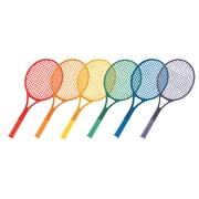 Champion Sports Plastic Tennis Rackets Set of 6 Rackets (CHSJTRSET)