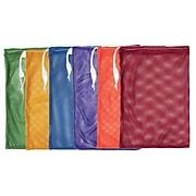 Champion Sports 12x18 Nylon-Mesh Equipment Bag. Assorted Colors, Set of 6 (CHSMB18SET)