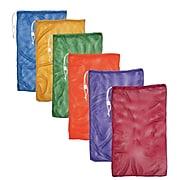 Champion Sports Nylon-Mesh Equipment Bag. Assorted Colors, Set of 6 (CHSMB21SET)