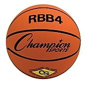 Champion Sports Intermediate Rubber Basketball, Orange, Each (CHSRBB4)