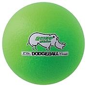 "Champion Sports 6"" Rhino Skin Foam Dodgeball Set. Neon Green, Set of 6 (CHSRXD6NGSET)"