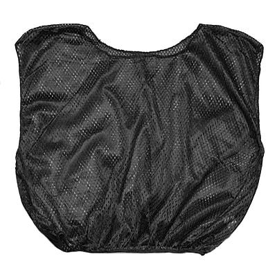 Champion Sports Adult Nylon Micro Mesh Scrimmage Vest. Black, Set of 12 (CHSSVMBL)