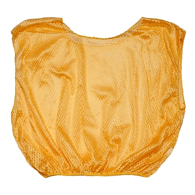 Champion Sports Adult Nylon Micro Mesh Scrimmage Vest. Gold, Set of 12 (CHSSVMGD)