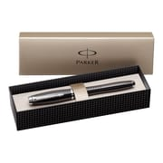 Parker Urban Rollerball Pen, Metal Chiseled, Black, Medium Point, Gift Box