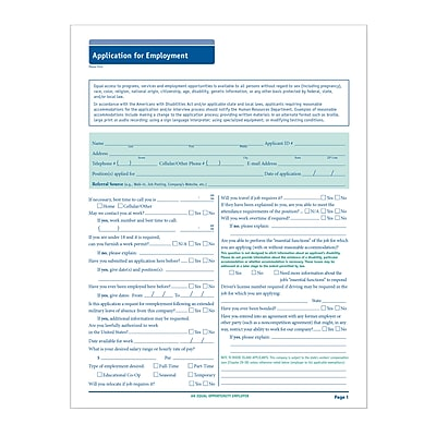 ComplyRight™ 50-State Job Application (Long Form), Pack of 50 (A0019)