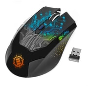 """ENHANCE ENGXM1W100BKEW, Wireless Optical Gaming Mouse with Rechargeable Battery, 8.75"""" x 6.75"""" x 2"""", Black, 20/1"""