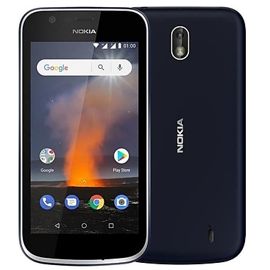 NOKIA 1 4.5-inch Unlocked Cell Phone, 8 GB, 1.1 GHz MediaTek 6737 m, Android 8.1 Oreo Go, Blue (11FRTL11A10)