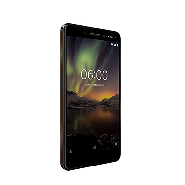 NOKIA 6.1 5.5-inch Unlocked Cell Phone, 32 GB, 2.2 GHz Qualcomm Snapdragon 630, Android Oreo, Black (11PL2B11A10)